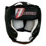 Revgear Leather Open Face Head Gear With Cheek Protection